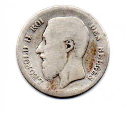 Bélgica - 1867 - 1 Franc - Prata .835 - Aprox 5 g - 23mm