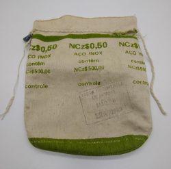 Saco Vazio da Casa da Moeda (50 Centavos 1889) - Apenas o saco vazio