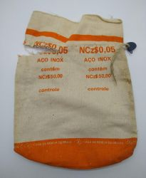 Saco Vazio da Casa da Moeda (5 Centavos 1889) - Apenas o saco vazio