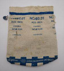 Saco Vazio da Casa da Moeda (1 Centavo 1889) - Apenas o saco vazio
