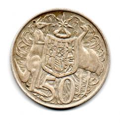 Austrália - 1966 - 50 Cents  - Prata .800 - Aprox 13,28 g -  31,65 mm