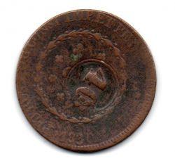 1830R - 80 Réis - C/ Carimbo Geral de 40 - Moeda Brasil Império