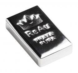 Prata - (R$ 11,94 o grama) - Barra de 125,6 gramas de Prata Pura .999 - Com certificado ReAu