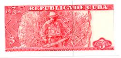 Cuba - 3 Pesos - Cédula Estrangeira