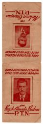 Folheto Político Antigo de Ruy Barbosa / Nelson Omegna