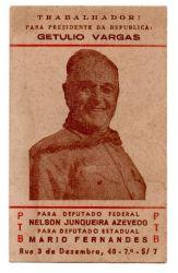 Folheto Político Antigo Getúlio Vargas