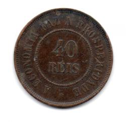 1907 - 40 Réis - Moeda Brasil
