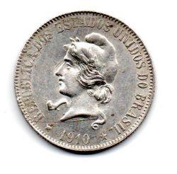 1910 - 2000 Réis - Prata - Moeda Brasil