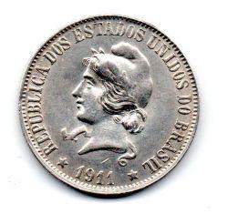 1911 - 2000 Réis - Prata - Moeda Brasil