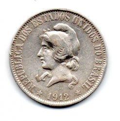 1912 - 2000 Réis - Prata - Moeda Brasil