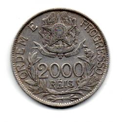 1912 - 2000 Réis - Estrelas Ligadas - Prata - Moeda Brasil