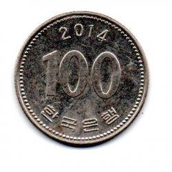 Coréia do Sul - 2014 - 100 Won