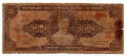 "C115 - 5 Centavos (Carimbo sob 50 Cruzeiros) - 2° Estampa - Série 1201 - Princesa Isabel - Erro: ""Minstro"" - Data: 1966 - UTG"
