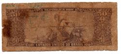 C115 - 5 Centavos (Carimbo sob 50 Cruzeiros) - 2° Estampa - Série 1201 - Princesa Isabel - Erro: