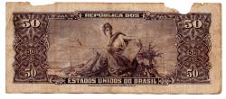 C115 - 5 Centavos (Carimbo sob 50 Cruzeiros) - 2° Estampa - Série 1106 - Princesa Isabel - Erro: