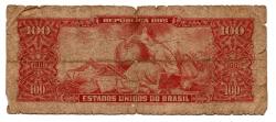 C117 - 10 Centavos (Carimbo sob 100 Cruzeiros) - 2° Estampa - Série 420 - Dom Pedro II - Erro: