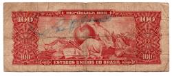 C117 - 10 Centavos (Carimbo sob 100 Cruzeiros) - 2° Estampa - Série 558 - Dom Pedro II - Erro: