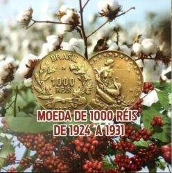 Cartela com Moeda - 1 Moeda - 1000 Réis 1927