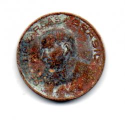 1942 - 10 Centavos - Níquel Rosa - Moeda Brasil - Estado de Conservação: Regular (R)