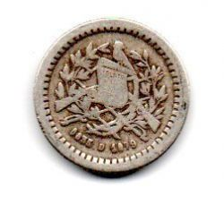 Guatemala - 1879 - ½ Reales - Prata .835 - Aprox 1,5 g -