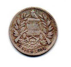 Guatemala - 1894 - ½ Reales - Prata .835 - Aprox 1,5 g - 15 mm