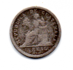 Guatemala - 1896 - ½ Reales - Prata .835 - Aprox 1,5 g - 15 mm