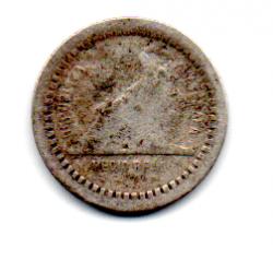 Guatemala - 1880 - ½ Reales - Prata .835 - Aprox 1,5 g - 15,4 mm