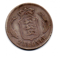 Dinamarca - 1876 - 2 Kroner - Prata .800 - Aprox 15 g