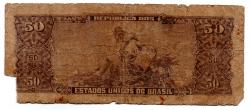 C116 - 5 Centavos (Carimbo sob 50 Cruzeiros) - 2° Estampa - Série 1580 - Princesa Isabel - Data: 1967 - UTG