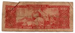 C117 - 10 Centavos (Carimbo sob 100 Cruzeiros) - 2° Estampa - Série 663 - Dom Pedro II - Erro: