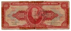 C118 - 10 Centavos (Carimbo sobre 100 Cruzeiros) - 2° Estampa - Série 1101 - Data: 1967 - UTG