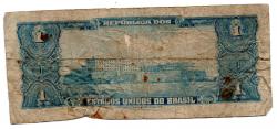 C011 - 1 Cruzeiro - 1° Estampa - Série 1939 - Numeração 000996 - Marquês de Tamandaré - Data: 1955 - UTG