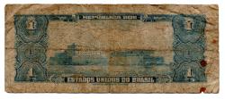 C011 - 1 Cruzeiro - 1° Estampa - Série 2006 - Numeração 000725 - Marquês de Tamandaré - Data: 1955 - UTG