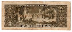 C068 - 5 Cruzeiros - 2° Estampa - Série 1480 - Numeração : 000538 - Barão do Rio Branco - Data: 1956 - MBC