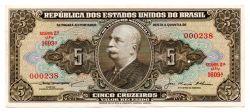 C068 - 5 Cruzeiros - 2° Estampa - Série 1609 - Numeração : 000238 - Barão do Rio Branco - Data: 1956 - BC