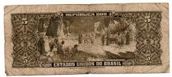 C068 - 5 Cruzeiros - 2° Estampa - Série 1765 - Numeração : 000832 - Barão do Rio Branco - Data: 1956 - R