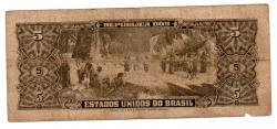 C070 - 5 Cruzeiros - 2° Estampa - Série 2056 - Numeração : 000081- Barão do Rio Branco - Data: 1959 - BC