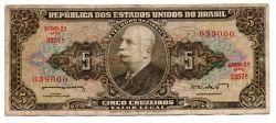 C071 - 5 Cruzeiros - 2° Estampa - Série 3397 - Numeração 039000 - Barão do Rio Branco - Data: 1962 - BC