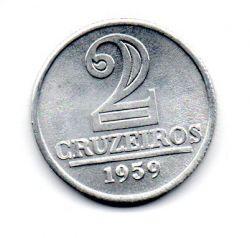 1959 - 2 Cruzeiros - Moeda Brasil - Estado de Conservação: Soberba/Flor (Sob/FC)