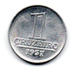 1957 - 1 Cruzeiro - Moeda Brasil - Estado de Conservação: Soberba/Flor (Sob/FC)