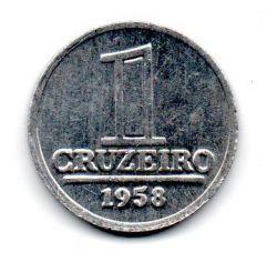 1958 - 1 Cruzeiro - Moeda Brasil - Estado de Conservação: Soberba/FC (Sob/FC)