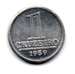 1959 - 1 Cruzeiro - Moeda Brasil - Estado de Conservação: Soberba/Flor (Sob/FC)