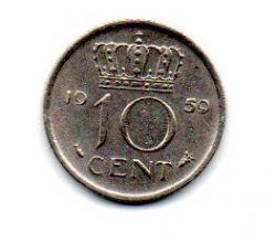 Holanda - 1959 - 10 Cents