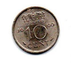 Holanda - 1960 - 10 Cents