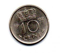 Holanda - 1962 - 10 Cents
