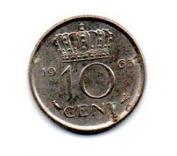 Holanda - 1963 - 10 Cents