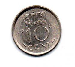Holanda - 1966 - 10 Cents