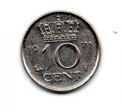 Holanda - 1971 - 10 Cents