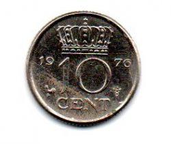Holanda - 1976 - 10 Cents