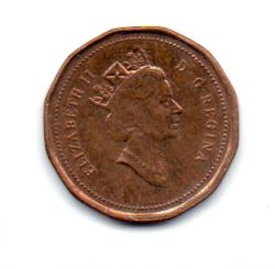 Canadá - 1992 - 1 Cent Comemorativa (125º aniversário da Confederação Canadense)
